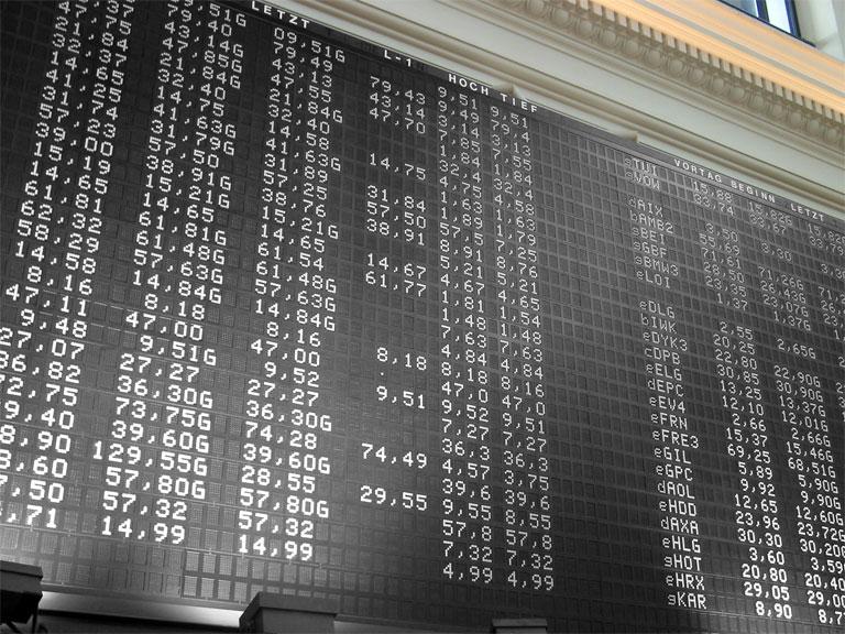 מסך תוצאות בבורסה