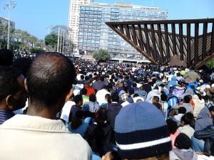 הפגנה ליד העיריה