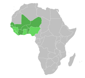 מפת ארגון ECOWAS