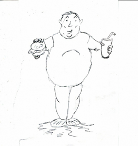 איור של איש שמן