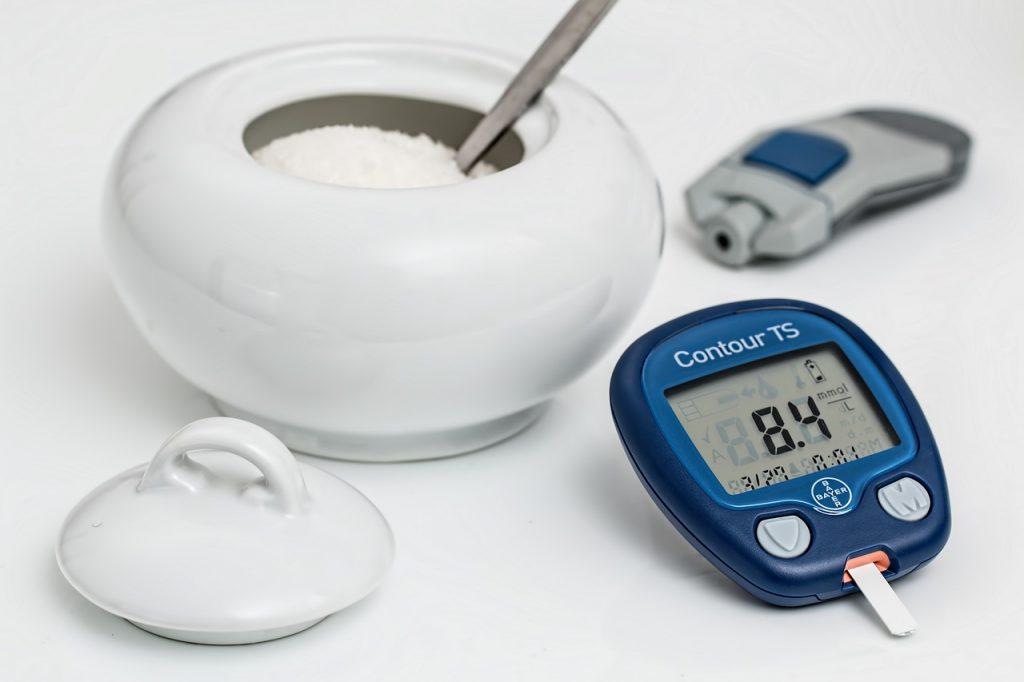 סוכר ומכשיר מדידה