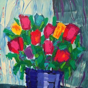 חלק מציור של האמן