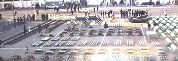 תצוגת כלי הנשק בנמל אילת