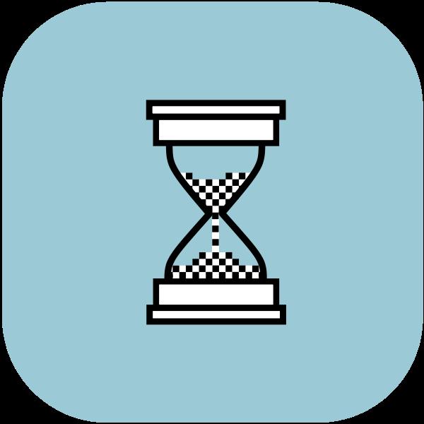 שרטוט של שעון חול