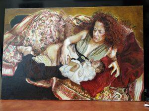 ציור של אשה