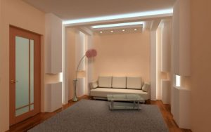 חדר עם קירות גבס